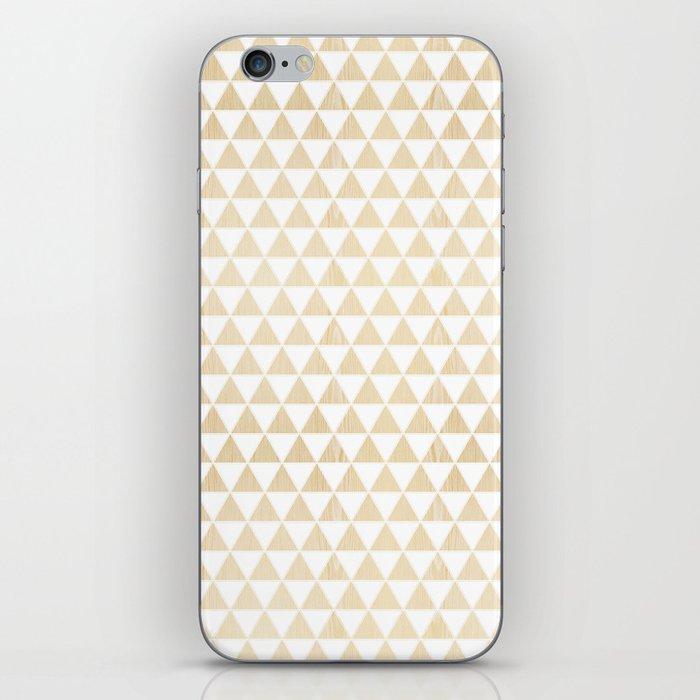 triangle white oak iPhone Skin