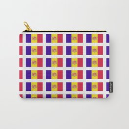 flag of andorra- andorre,andorra,andorran,catalan,pyrenees,pyrenean Carry-All Pouch