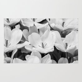 The Bloom (Black and White) Rug