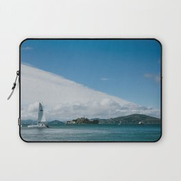 Ships Around Alcatraz // San Francisco, California Laptop Sleeve