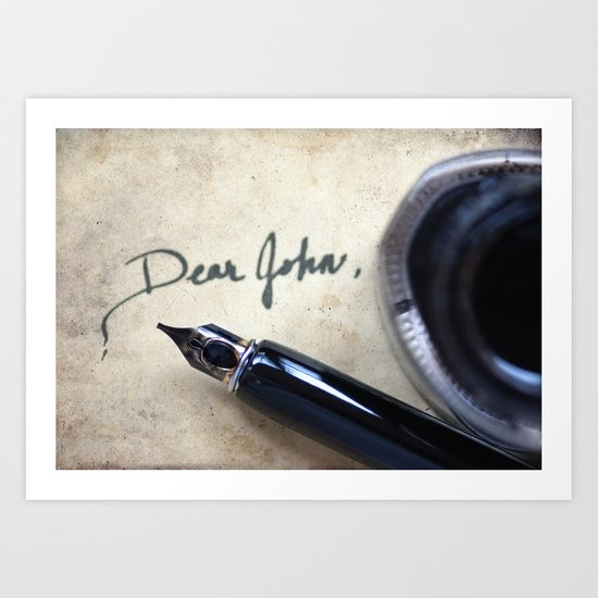 Dear John Art Print