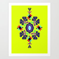 nine flowers 1 Art Print