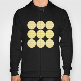 Four Shades of Yellow with White Squiggly Lines Hoody