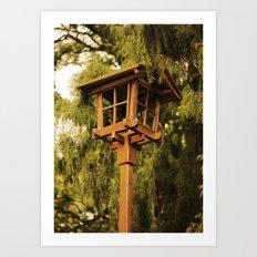 Wooden Lamp Art Print