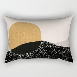 Gold Sun Going Rectangular Pillow