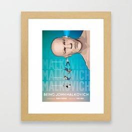 Being John Malkovich alternate movie poster Framed Art Print