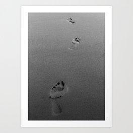 Step By Step - BW photo Art Print