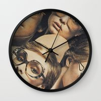 hydra Wall Clocks featuring Hydra by WeLoveHumans