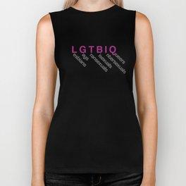 lgtbi, lesbiana, gay, intersexual, transexual, queer Biker Tank