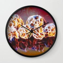 Balls and Cones  Abstract Wall Clock