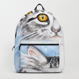 Silver Tabby Cat Backpack
