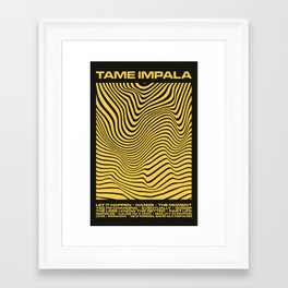 Tame Impala Currents Design Framed Art Print
