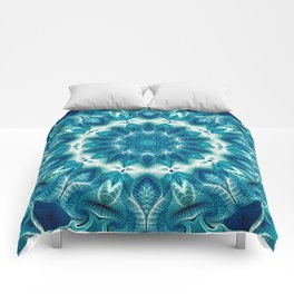 Flower Of Life Mandala (Ocean's Secret) Comforters