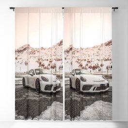 Sports Car Winter Landscape Blackout Curtain