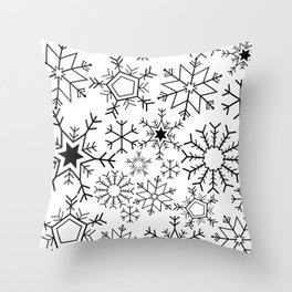 Snowflake pattern Throw Pillow