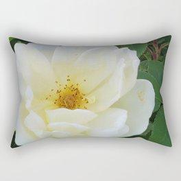 White Roses Rectangular Pillow