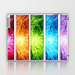 Rainbow Nebula Pixels Panel Art Laptop & iPad Skin