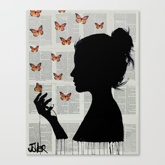 FLUTTERS Canvas Print