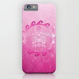 Pink Tribal Turtle Sun iPhone Case