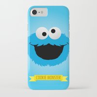 cookie monster iPhone & iPod Cases featuring C FOR COOKIE MONSTER by Emils Blums