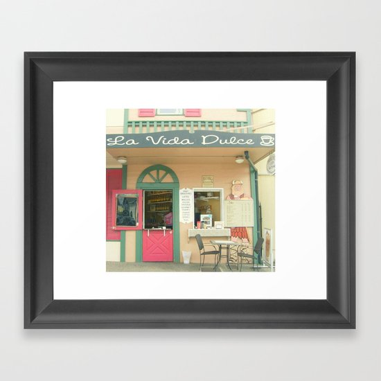La Vida Dolce Framed Art Print
