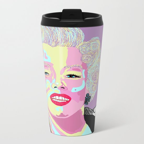 Marilyn M Metal Travel Mug