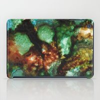malachite iPad Cases featuring Geode I, Malachite by Titania Designs