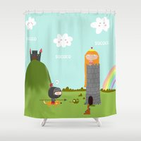 princess Shower Curtains featuring princess by Sucoco