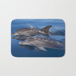 Beautiful Spotted dolphins Stenella frontalis Bath Mat