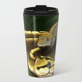 Crested Gecko And Ball Python Art Travel Mug