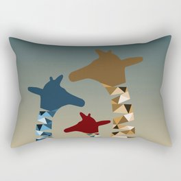 Abstract Colored Giraffe Family Rectangular Pillow