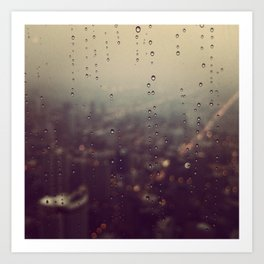 Urban Rainstorm Art Print
