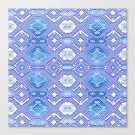 Lavender Geometric Texture Canvas Print