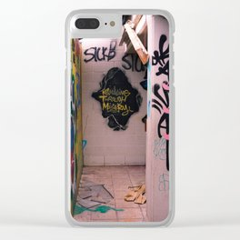 Smiling Through Misery Clear iPhone Case