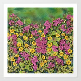Wildflowers at Fox Corner Art Print