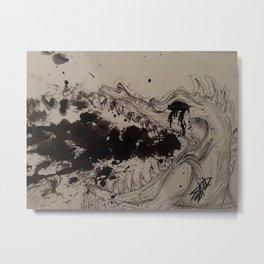 Ink breathing dragon Metal Print