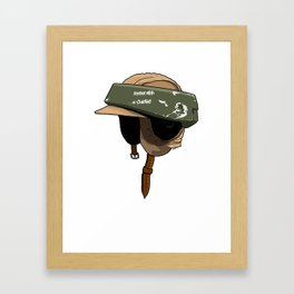 Rebel with a cause Framed Art Print