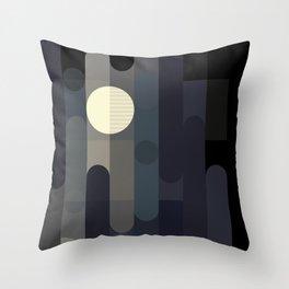 Lunar Elements Throw Pillow