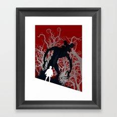 Stranger Things - TV Series | 80's | Cult | TV | Monster | Forest | Eleven | Movie | Poster Framed Art Print