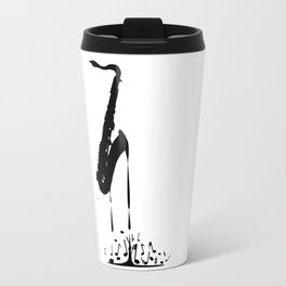 Melting Saxophone Silhouette Travel Mug