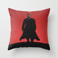 sin city Throw Pillows featuring Sin City by Nick Kemp