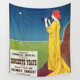 Concerts Ysaye 1896 Henri Meunier Wall Tapestry