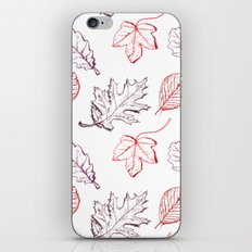 Leaves (reds) iPhone Skin