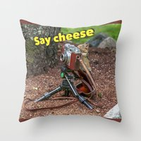 photographer Throw Pillows featuring Photographer by Robert Raney