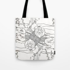 The Queen (Twins) - Black/White Tote Bag