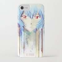 evangelion iPhone & iPod Cases featuring Rei Ayanami from Evangelion Digital Mixed Media by Barrett Biggers