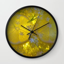 Lemon and Elderflower Wall Clock