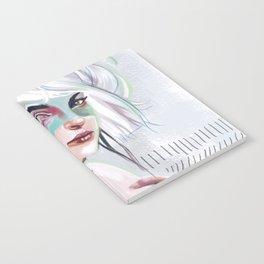 silver hair girl waiting Notebook
