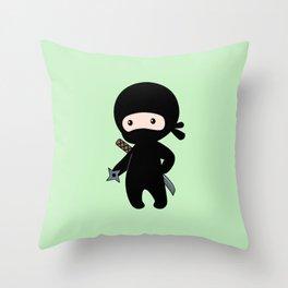 Tiny Ninja Throw Pillow