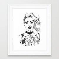 tank girl Framed Art Prints featuring Tank Girl by Thodoris Mpoutos / Boutos